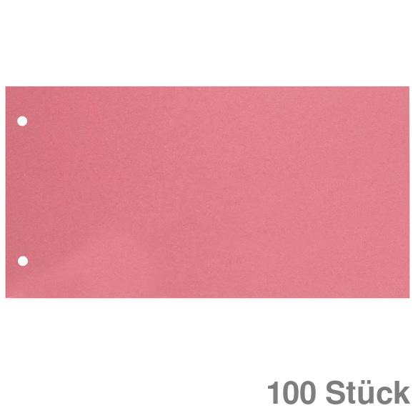 Trennstreifen Trennblätter 100 Stück 160g RC Karton rosa oder blau