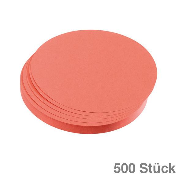 250 St. 195 mm Franken Moderationskarte Kreis groß